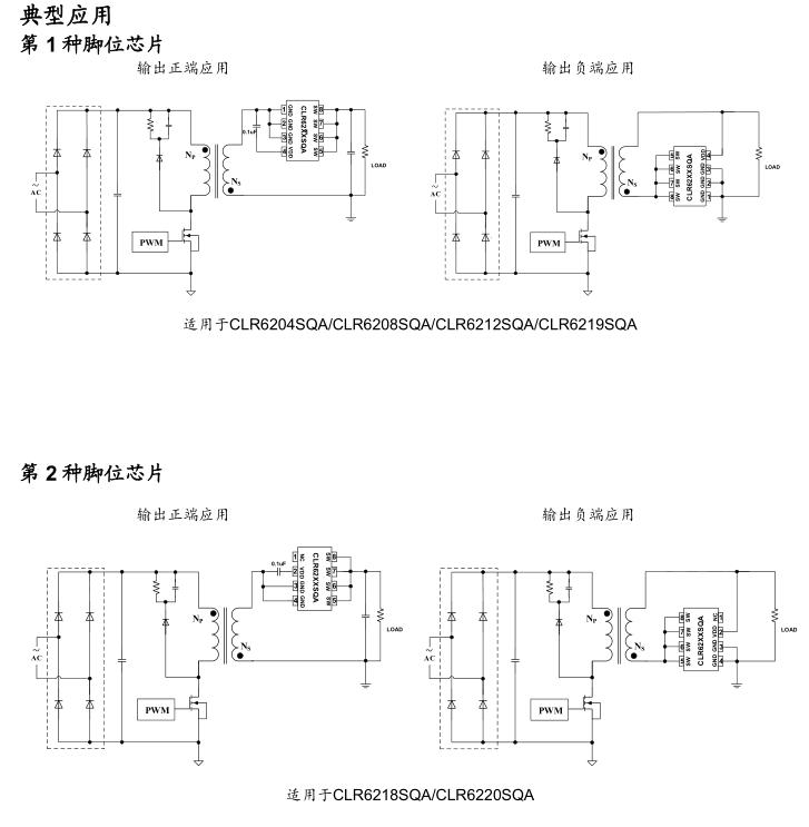 内 置mos 内阻 及封装形式     clr62xxsqa是一款高集成度的同步整流